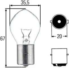 Żarówka tylnego światła przeciwmgielnego HELLA 8GA 002 083-251