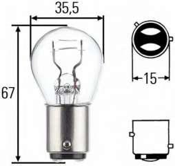 Żarówka świateł STOP/pozycji HELLA 8GD 004 772-121