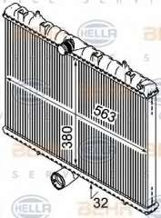 Chłodnica silnika HELLA 8MK 376 745-131