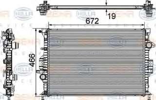 Chłodnica silnika HELLA 8MK 376 745-601