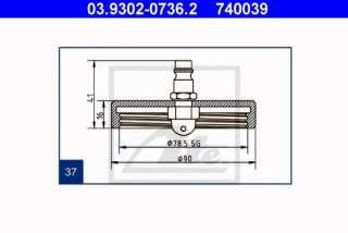 Króciec odpowietrzający ATE 03.9302-0736.2