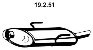 Tłumik końcowy EBERSPÄCHER 19.2.51