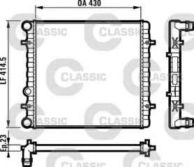 Chłodnica silnika VALEO 231607