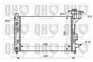 Chłodnica silnika QUINTON HAZELL QER1709