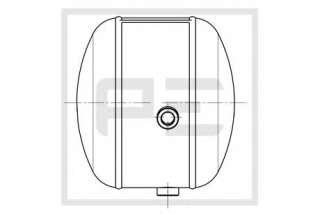 Zbiornik powietrza systemu pneumatycznego PETERS ENNEPETAL 126.250-00A