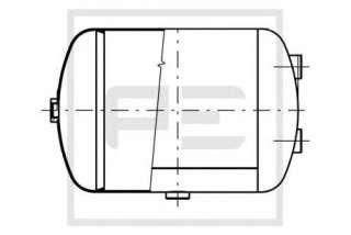 Zbiornik powietrza systemu pneumatycznego PETERS ENNEPETAL 146.508-00A