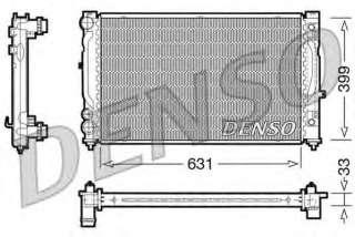 Chłodnica silnika DENSO DRM02030