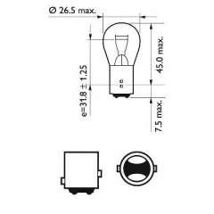Żarówka świateł STOP/pozycji PHILIPS 12495CP
