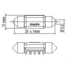 Żarówka oświetlenia wnętrza PHILIPS 128584000KX1
