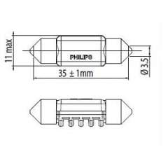 Żarówka oświetlenia wnętrza PHILIPS 128596000KX1