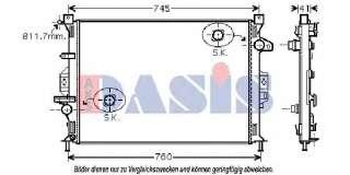 Chłodnica silnika AKS DASIS 092047N