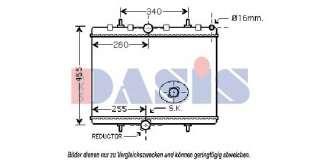 Chłodnica silnika AKS DASIS 160045N