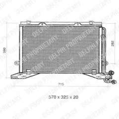 Chłodnica klimatyzacji DELPHI TSP0225330