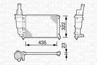 Chłodnica silnika MAGNETI MARELLI 350213113003