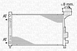 Chłodnica silnika MAGNETI MARELLI 350213822000