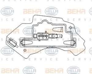Regulator wentylatora nawiewu do wnętrza pojazdu BEHR HELLA SERVICE 5HL 351 321-131