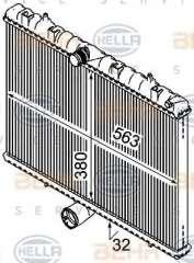 Chłodnica silnika BEHR HELLA SERVICE 8MK 376 745-131