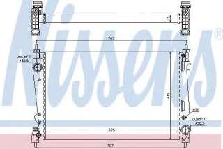 Chłodnica silnika NISSENS 61916
