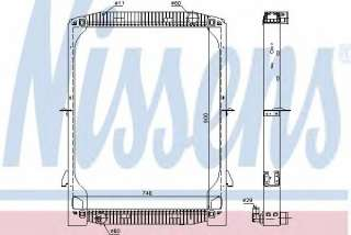 Chłodnica silnika NISSENS 61971A
