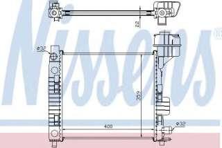 Chłodnica silnika NISSENS 62663