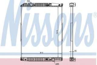 Chłodnica silnika NISSENS 627910