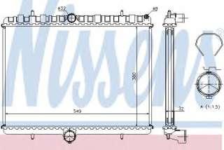 Chłodnica silnika NISSENS 63621A