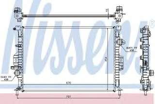 Chłodnica silnika NISSENS 66857