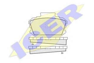 Klocki hamulcowe kpl. ICER 180095