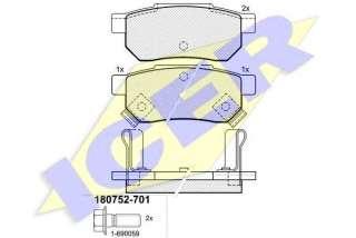 Klocki hamulcowe kpl. ICER 180752