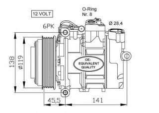 Kompresor klimatyzacji NRF 32053