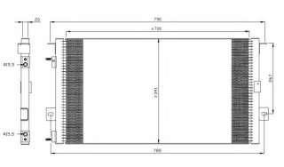 Chłodnica klimatyzacji NRF 35156