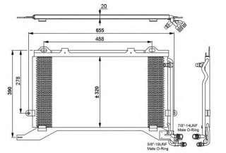 Chłodnica klimatyzacji NRF 35240