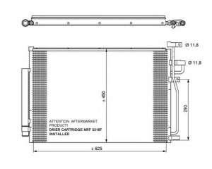 Chłodnica klimatyzacji NRF 35775
