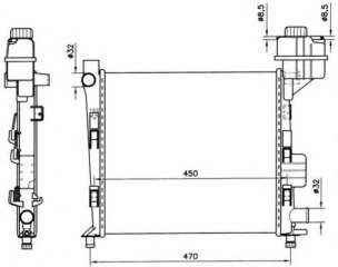 Chłodnica silnika NRF 58252