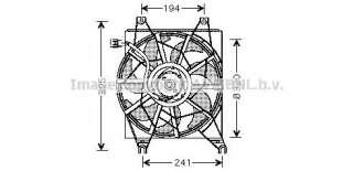 Wentylator chłodnicy silnika AVA QUALITY COOLING HY7502