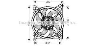 Wentylator chłodnicy silnika AVA QUALITY COOLING HY7505
