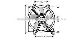 Wentylator chłodnicy silnika AVA QUALITY COOLING HY7506