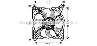 Wentylator chłodnicy silnika AVA QUALITY COOLING HY7508