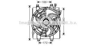 Wentylator chłodnicy silnika AVA QUALITY COOLING HY7510