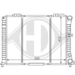 Chłodnica silnika DIEDERICHS 8100110