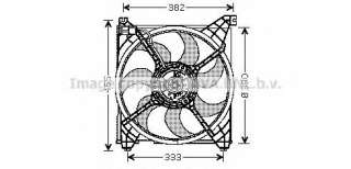 Wentylator chłodnicy silnika PRASCO HY7508