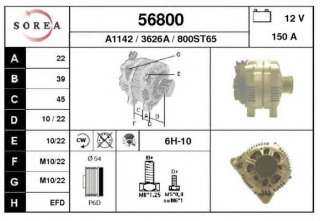 Alternator EAI 56800