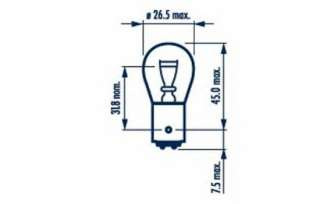Żarówka świateł STOP/pozycji NARVA 17881
